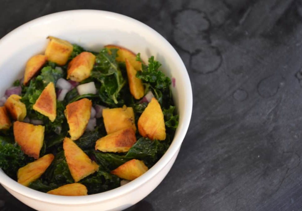 Kale & Sweet Plantain Salad